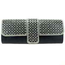 Load image into Gallery viewer, Crystal Embellished Black Clutch - CeCe Fashion Boutique