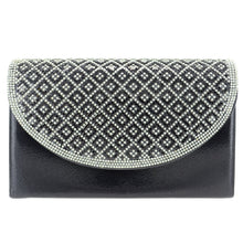 Load image into Gallery viewer, Crystal Embellished Metallic Clutch - CeCe Fashion Boutique