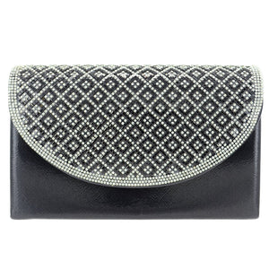 Crystal Embellished Metallic Clutch - CeCe Fashion Boutique