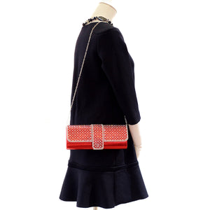 Crystal Embellished Red Clutch - CeCe Fashion Boutique