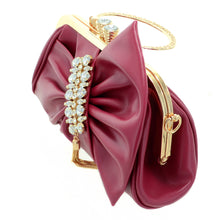 Load image into Gallery viewer, Crystal Deco Bow - Burgundy - CeCe Fashion Boutique