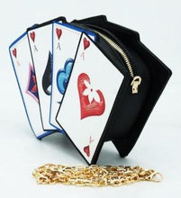 Load image into Gallery viewer, Playing Cards Suits Clutch Shoulder Novelty Bag - CeCe Fashion Boutique