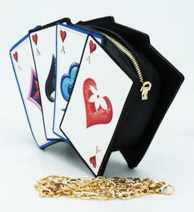 Playing Cards Suits Clutch Shoulder Novelty Bag - CeCe Fashion Boutique