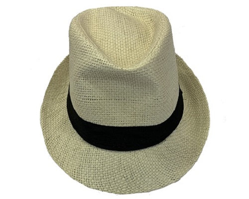 Anchor Straw Fedora Hat - Natural - CeCe Fashion Boutique