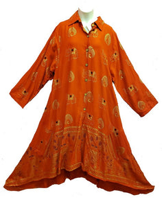 Tunic / Dress - Elephant Print (Red) - CeCe Fashion Boutique