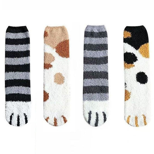 Cat Print Soft Plush Socks - CeCe Fashion Boutique