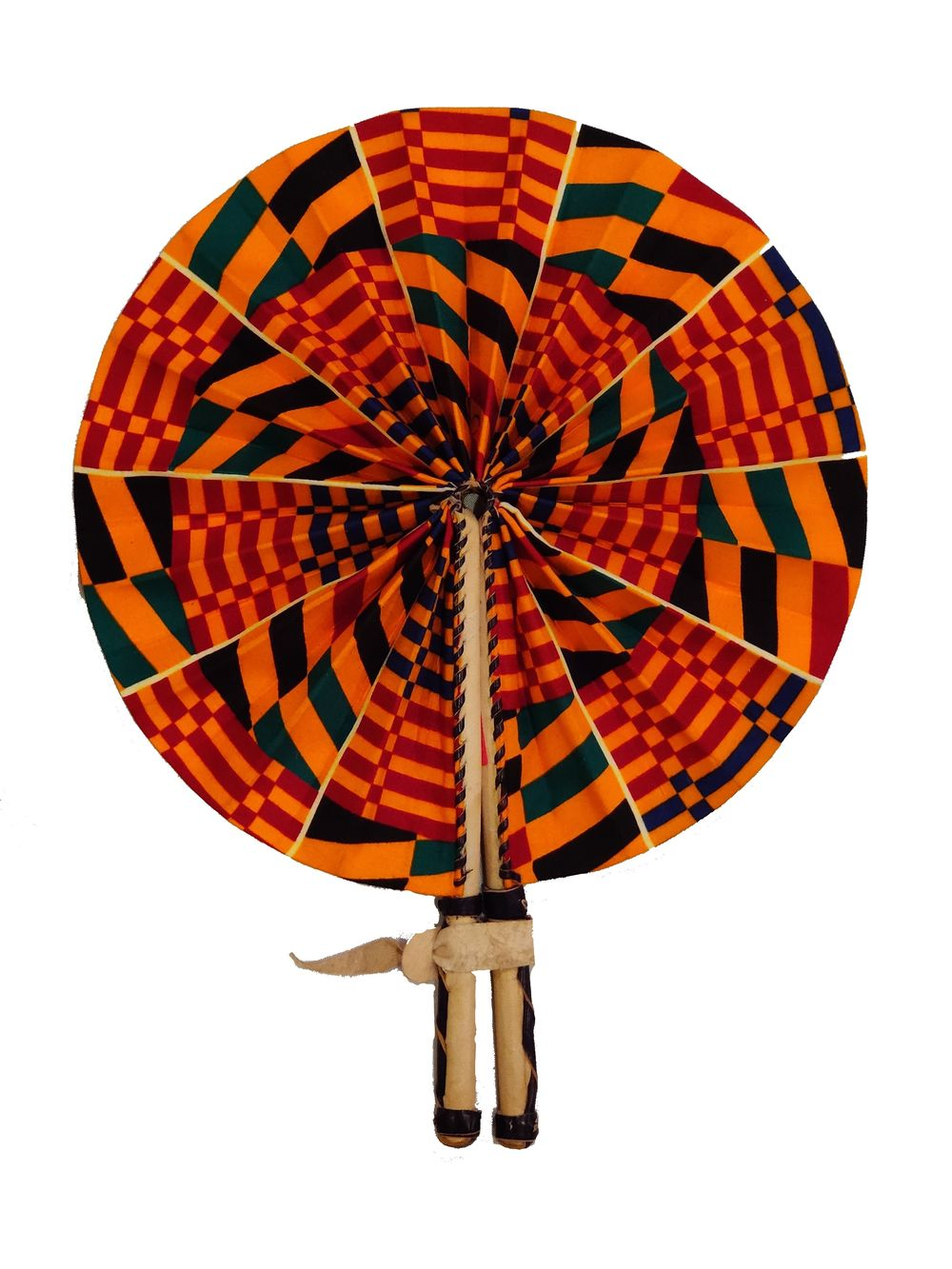 Handmade African Vintage Straw Fan - FN0009 - CeCe Fashion Boutique