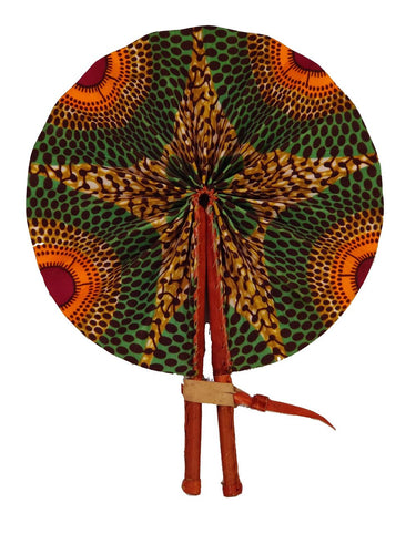 Handmade African Vintage Straw Fan - FN0019 - CeCe Fashion Boutique