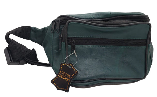 Leather Fanny Pack - Dark Green - CeCe Fashion Boutique