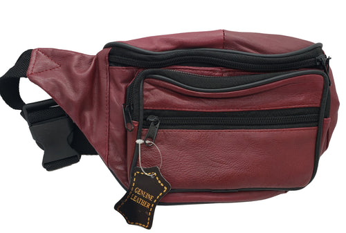 Leather Fanny Pack - Burgundy - CeCe Fashion Boutique