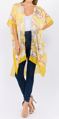 Floral Overlay (Yellow) - CeCe Fashion Boutique