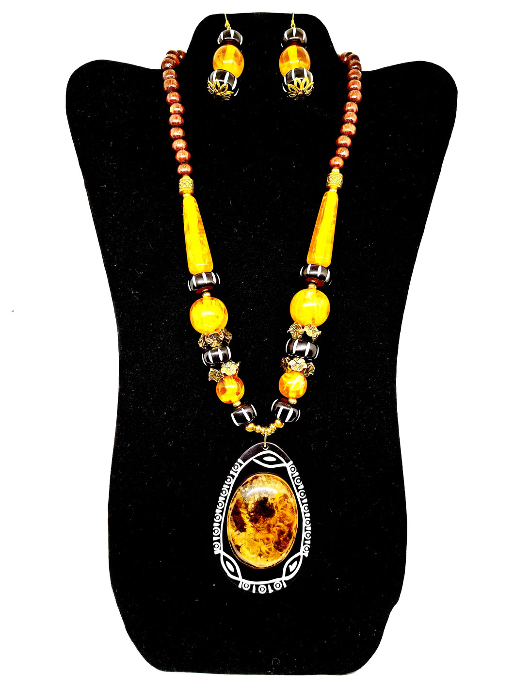 Yellow Beaded Necklace Set - CeCe Fashion Boutique