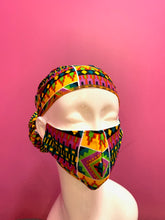 Load image into Gallery viewer, Face Mask and Head Wrap Set - CeCe Fashion Boutique