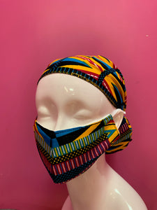 Face Mask and Head Wrap Set - CeCe Fashion Boutique