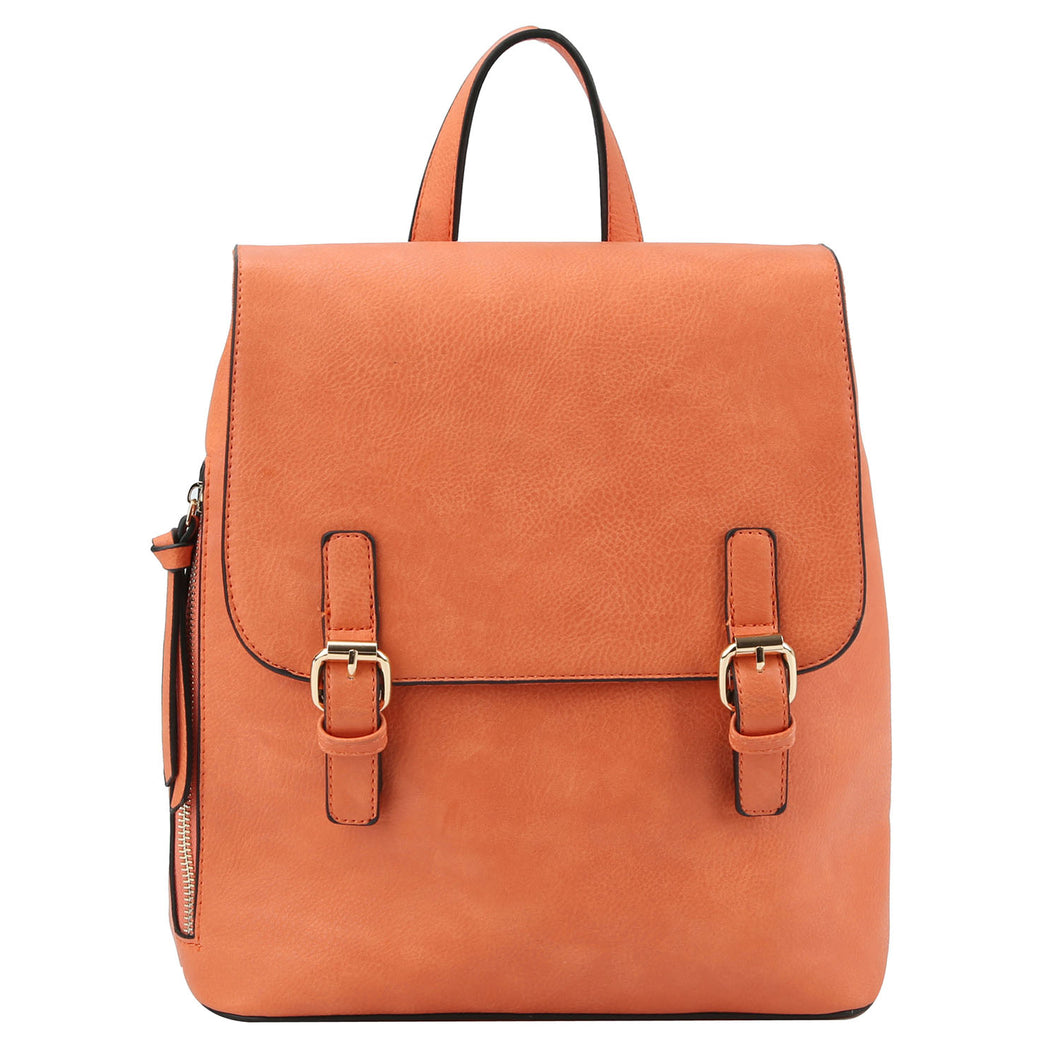 Fashion Buckle Flap Backpack (3 Colors) - CeCe Fashion Boutique