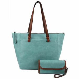Front Pocket 2-in-1 Shopper/Clutch (4 Colors) - CeCe Fashion Boutique