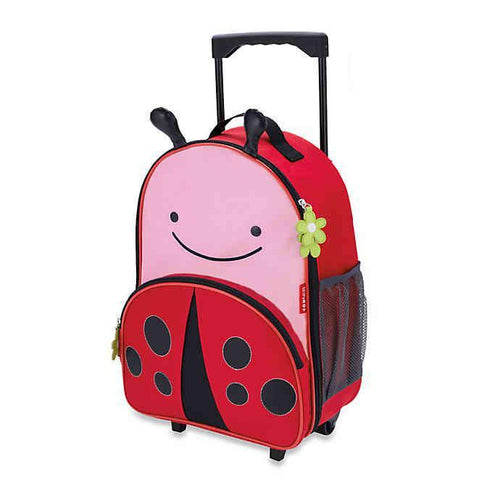 Skip Hop Zoo Kids Rolling Luggage - Ladybug - CeCe Fashion Boutique