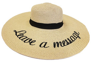 """Leave A Message"" Floppy Hat - Beige - CeCe Fashion Boutique"