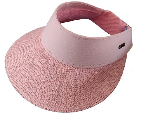 Visor Straw Hat - Pink - CeCe Fashion Boutique
