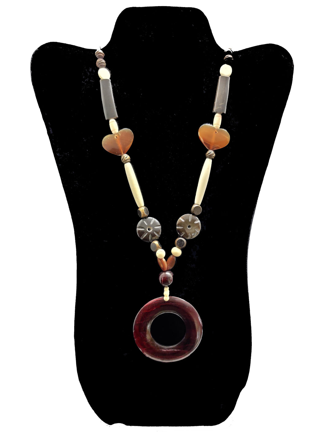 Long Necklace with Hollow Pendant - CeCe Fashion Boutique