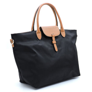 Black Nylon Shoulder Tote Bag - CeCe Fashion Boutique