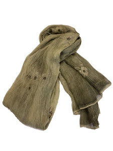 Lightweight Floral Scarf - Olive - CeCe Fashion Boutique
