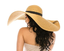 Load image into Gallery viewer, Oversized Beach Hat W/ Pin Up Brim - CeCe Fashion Boutique