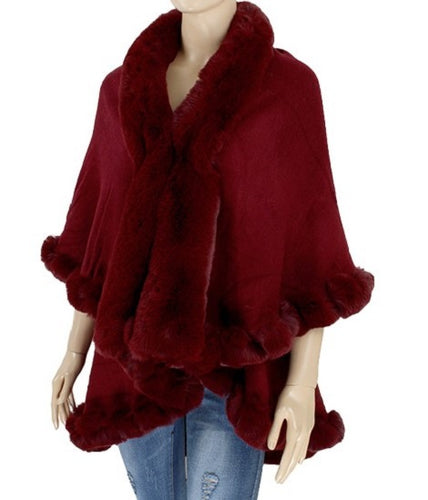 Faux Fur Shawl - Style F - CeCe Fashion Boutique