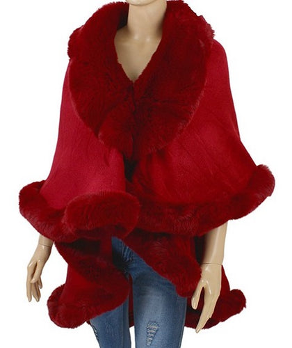 Faux Fur Shawl - Style B - CeCe Fashion Boutique