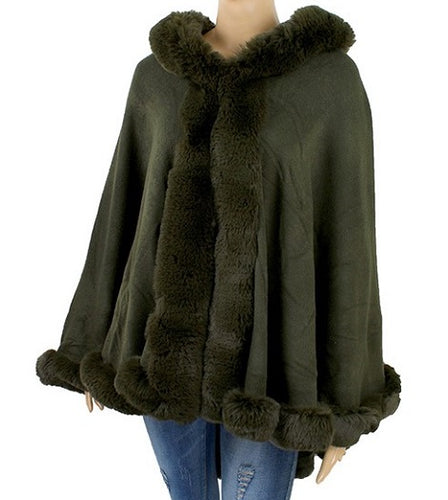Faux Fur Shawl - Style C - CeCe Fashion Boutique