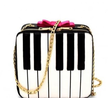 Piano Bow Accent Crossbody Novelty Bag - CeCe Fashion Boutique