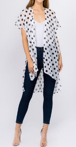 Polka Dots Kimono (White) - CeCe Fashion Boutique