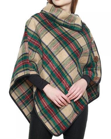 Check Plaid Poncho - CeCe Fashion Boutique