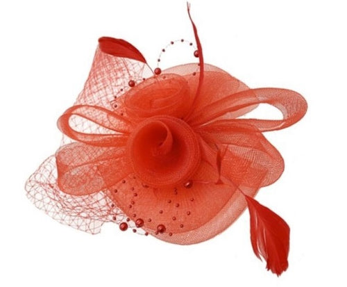 Fascinator - Red - CeCe Fashion Boutique