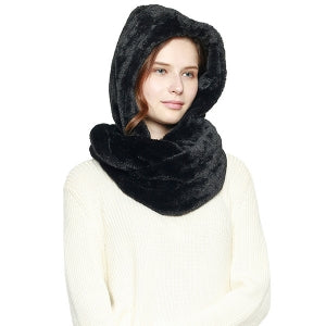 Faux Fur Hooded Infinity Scarf (4 Colors) - CeCe Fashion Boutique