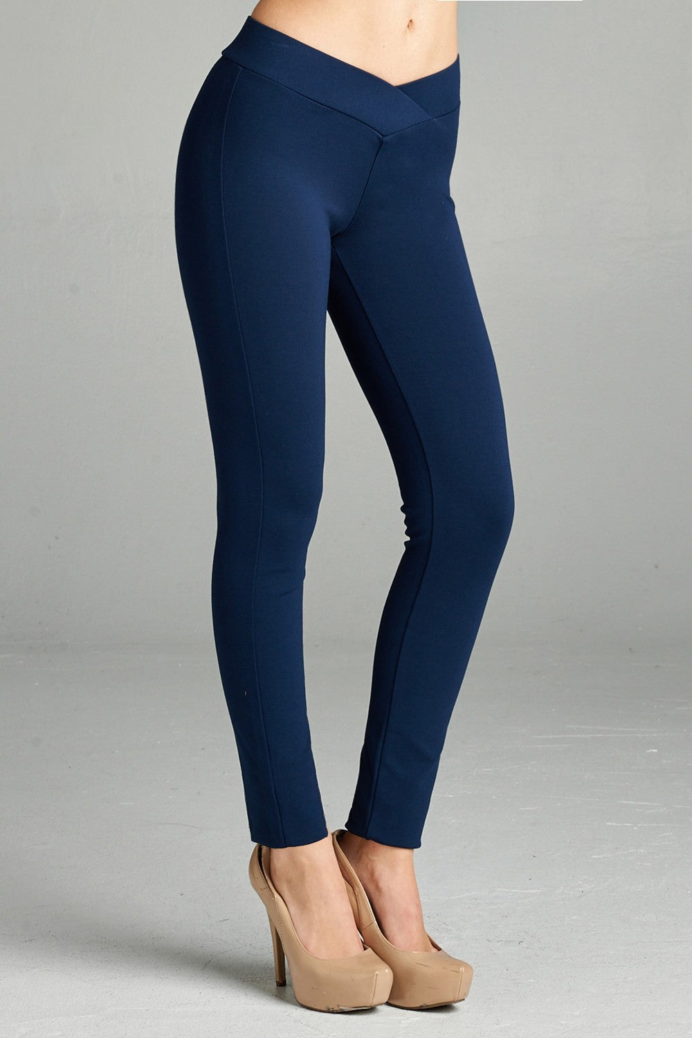 Seagull Shaped Pants - Navy - CeCe Fashion Boutique