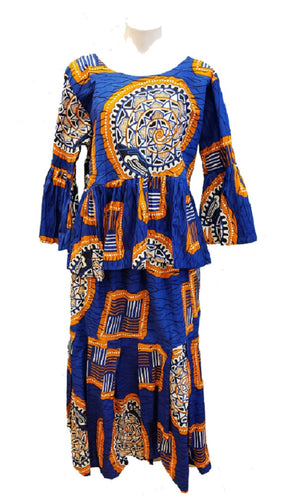 Cotton Top with Skirt and Headwrap - Style F - CeCe Fashion Boutique