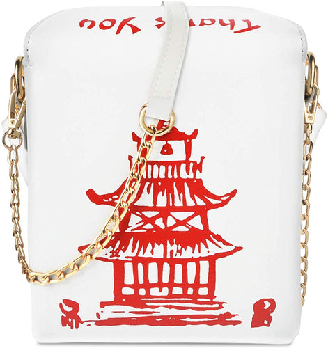 Chinese Take-Out Container Clutch Shoulder Novelty Bag - CeCe Fashion Boutique
