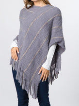Load image into Gallery viewer, Poncho with Fringes (5 Colors) - CeCe Fashion Boutique