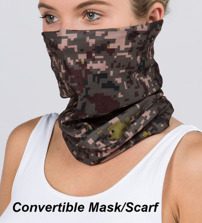 Tube Mask (Camo Print) - CeCe Fashion Boutique