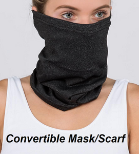 Tube Mask (Solid Black) with Filter - CeCe Fashion Boutique