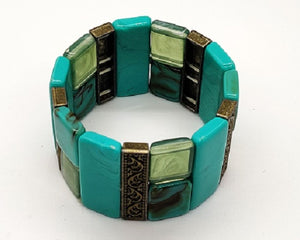 Stretchable Turquoise Bracelet - CeCe Fashion Boutique