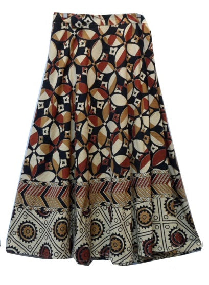 Wrap Skirt - Block Print (A) - CeCe Fashion Boutique