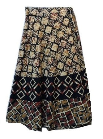 Wrap Skirt - Block Print (C) - CeCe Fashion Boutique
