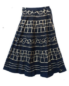 Wrap Skirt - Black Metallic Arctic Symbol - CeCe Fashion Boutique
