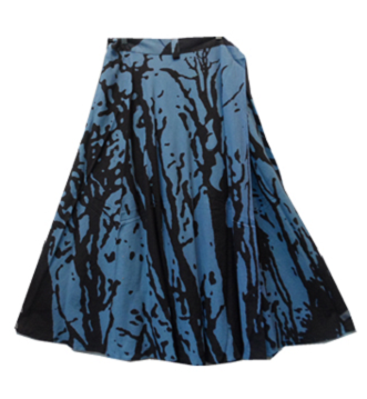 Wrap Skirt - Tree Print (Blue) - CeCe Fashion Boutique