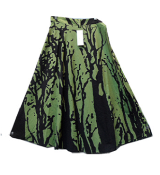 Wrap Skirt - Tree Print (Green) - CeCe Fashion Boutique