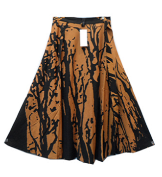Wrap Skirt - Tree Print (Orange) - CeCe Fashion Boutique