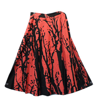 Wrap Skirt - Tree Print (Red) - CeCe Fashion Boutique
