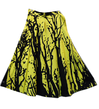 Wrap Skirt - Tree Print (Yellow) - CeCe Fashion Boutique